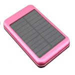 Eco-Friendly Solar Power Bank Pink