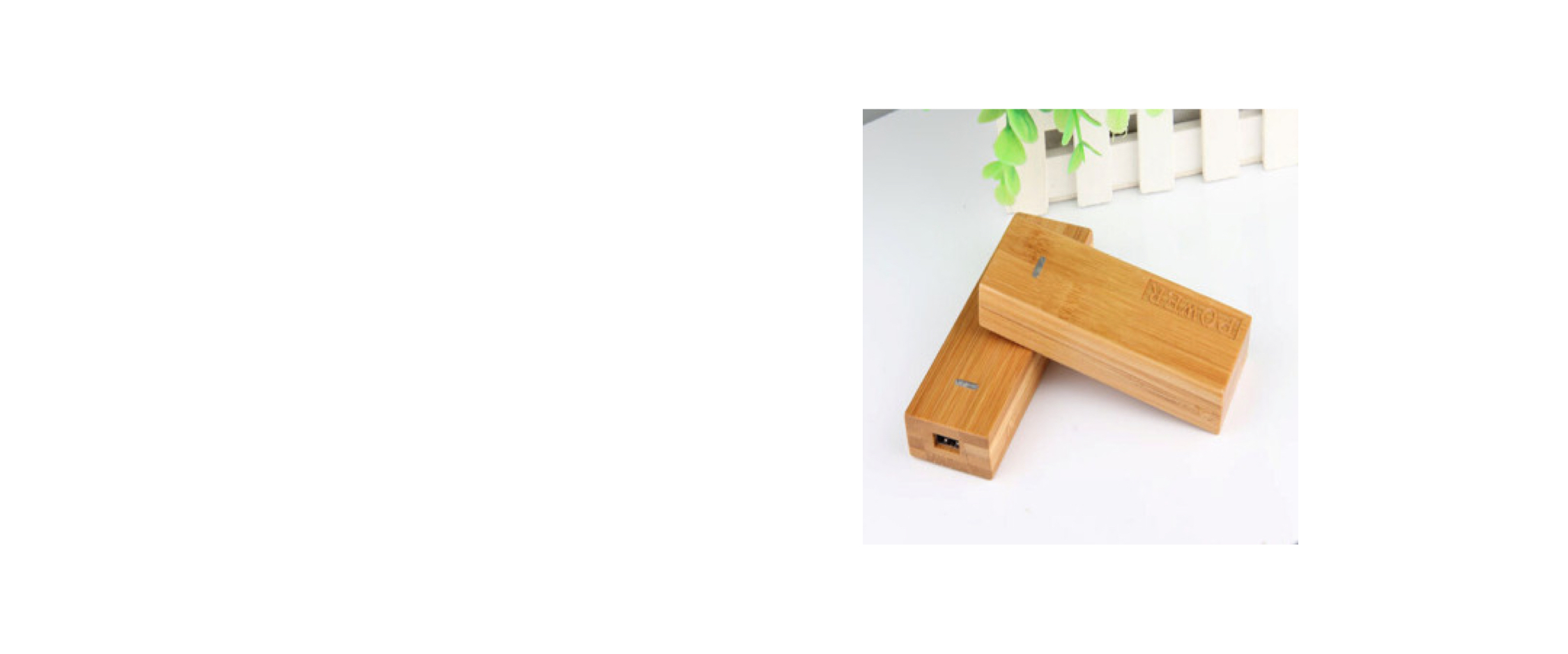 Bamboo Powercharger, Powerbank, Powerstick, Juice Bank.
