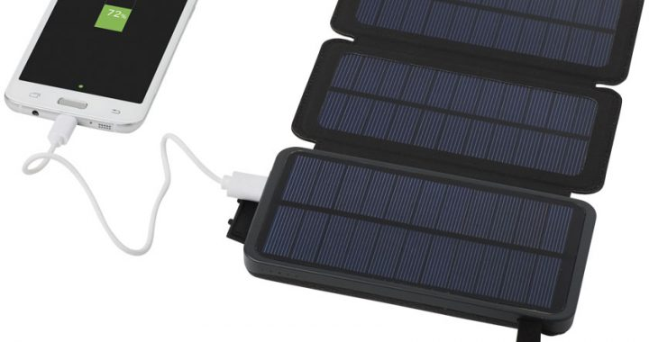 lack 8,000 mAh Solar Power Bank with Dual Panels